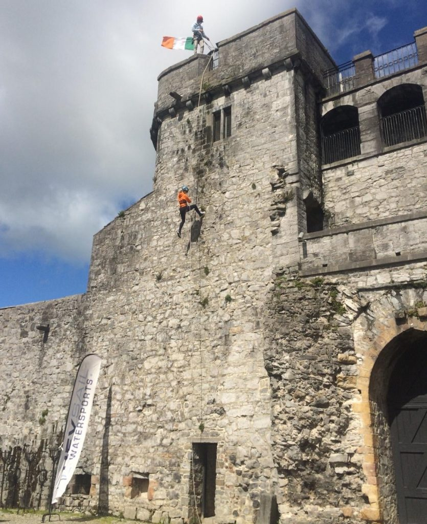 Abseiling King Johns Castle